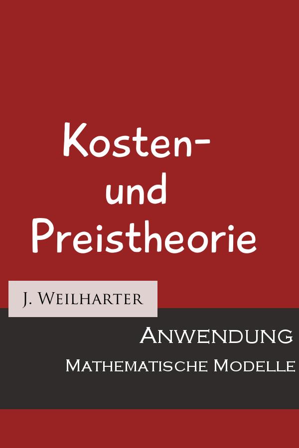 Buch: Kosten- und Preistheorie
